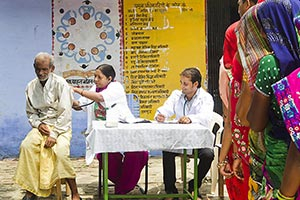 Indian Rural Village Free Health Checkup Dispensar