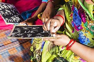 Rural Women Writing Slate Education