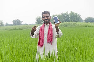Rural Farmer Phone Showing