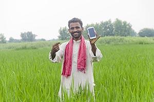Rural Farmer Phone Showing