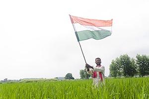 Indian Farmer Flag Fluttering