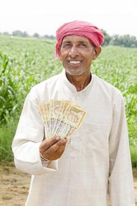 Rural Farmer Saving Money