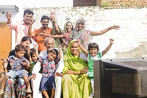 Indian Rural Group Joint Family