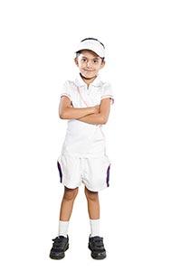 Indian Little Girl Tennis Player