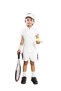 Indian Child Girl Tennis Player