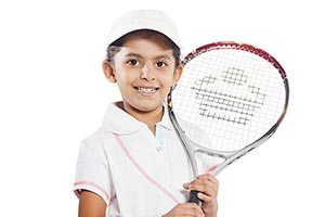 Kid Tennis Player Holding Racket