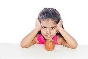 Child Girl Sitting Eating Apple