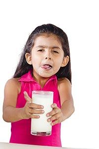 Child Girl Sharing Glass Milk