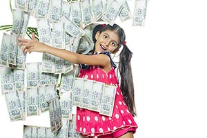 Child Girl Tree Money Hugging