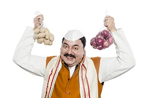 Government Politician Neta Promise Vegetables Cont