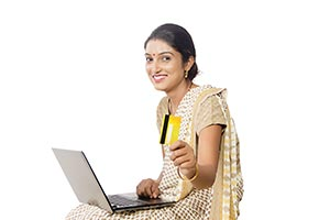 Woman Laptop Shopping Credit card
