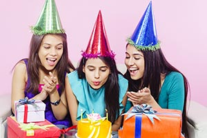 Indian Teenage Girls Birthday Party