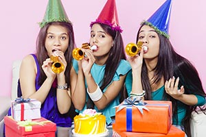 Young Girls Celebrate Birthday Party