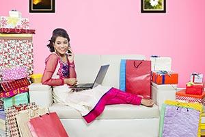 Girl Diwali Shopping Talking Phone