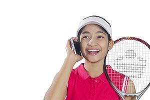 Girl Tennis Talking Phone