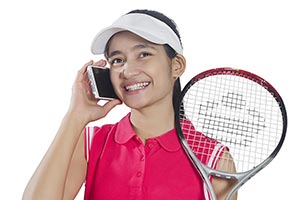 Girl Tennis Talking Phone