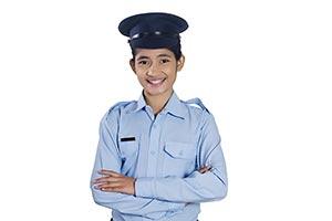 Indian Girl Security Guard