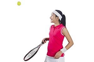 Indian Girl Playing Tennis