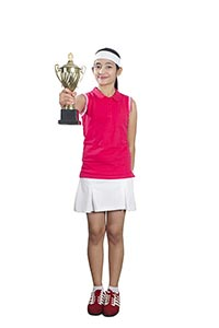 Girl Tennis Victory Trophy