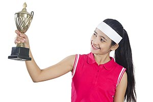 Teenage Girl Tennis Trophy