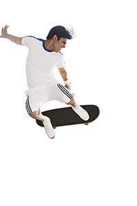 Sports Man Skateboarding Effort