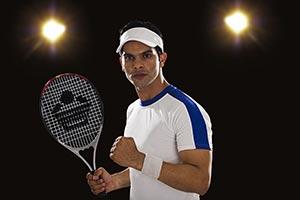 Tennis Player Fist Successful Tennis Court