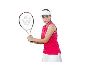 Indian Woman Playing Tennis