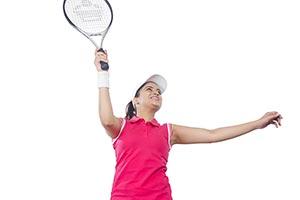 Athlete Woman Playing Tennis