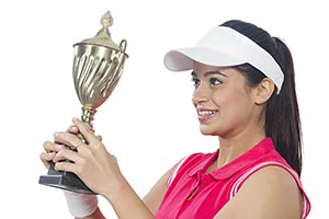 Woman Tennis Player Success Trophy