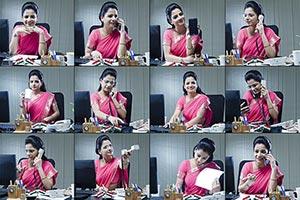 Montage Photo Businesswoman Office