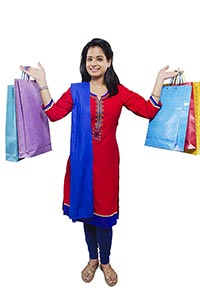 Lady Shopping Bags Showing
