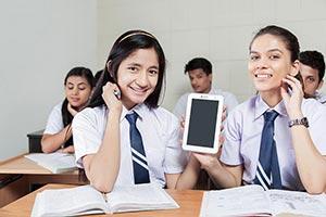 School Girls Friend Tablet Showing