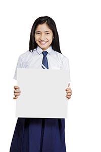 School Girl Student Message Board