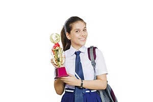 Girl Student Victory Trophy