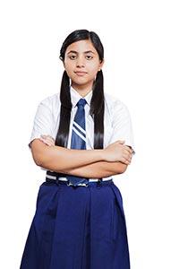School Teenage Girl Arms Crossed