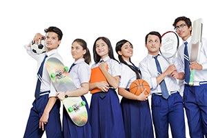 Group School Sports Students