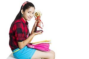 Indian Girl Student Trophy