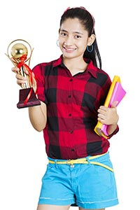 Girl Student Trophy Showing