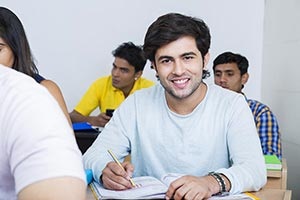 College Students Studying Classroom