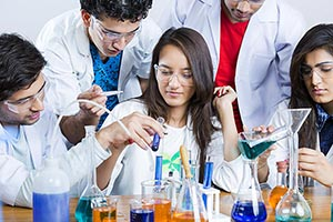 College Students Chemistry Laboratory