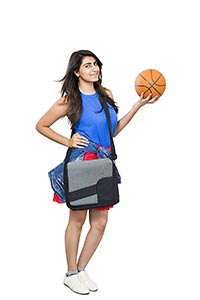 1 Person Only ; 20-25 Years ; Bag ; Ball ; Basket