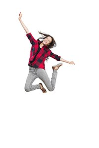 Teenager Girl Student Jumping
