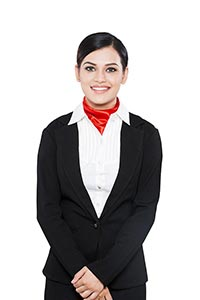 Indian Adult Woman Air Hostess