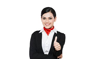 Indian Hostess Thumbs up