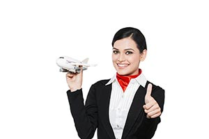 Indian Air hostess Thumbsup