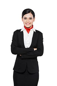 Indian Adult Woman Airhostess