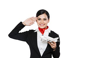 Indian Air hostess Salute