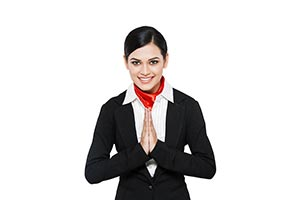 Indian Air Hostess Welcome