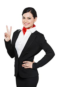 Air Hostess Finger Showing