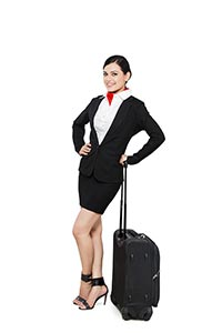Indian Woman Air Hostess